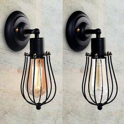 Lights & Lighting Retro Cage Wall Sconce Lamp Metal Industrial Wall Light Vintage Style Edison Mini Antique Fixture For Bedroom Aisle Porch Mirror