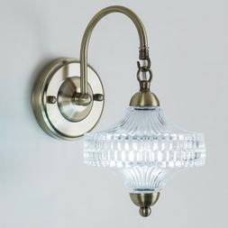 wall mount sconce with clear shade wall