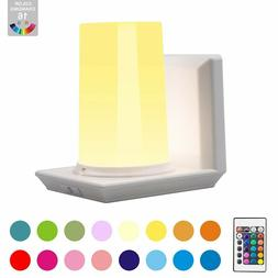 Wall Sconce Battery Operated Wall Light, Remote , 16 Color C