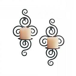 Wall Sconce Candle Holder, Modern Metal Candle Wall Sconces