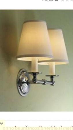 wall sconce double light with fabric shades