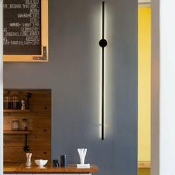 Wall Sconce Lamp Light Black Fixture Modern Bedroom Living R