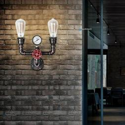 Wall Sconce Light Lamp Vintage Steampunk Water Pipe Fixture