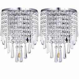 Wall Sconce Light Pair Fixture Modern Contemporary Chrome Cr