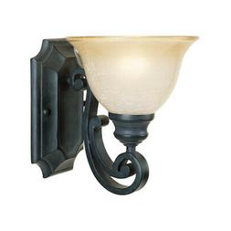 Designers Fountain  Wall Sconce Natural Iron Monte Carlo 1-L