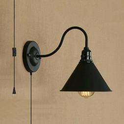 Wall Sconce Plug In Light Fixture Vintage Industrial Rustic