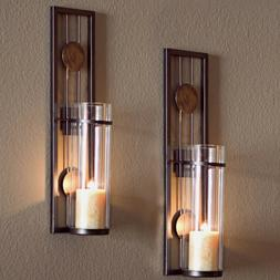Wall Sconce Set Of Two Mounted Candle Holder Modern Decor Me