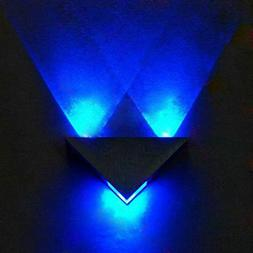 COOLWEST 3W LED Wall Sconces Blue Light Fixture Hardwired fo
