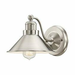 "Kira Home Welton 8.5"" Modern Industrial Wall Sconce, Brushed"