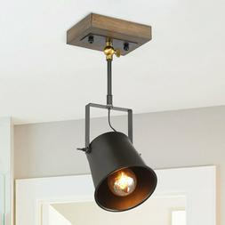 LNC Wood Close to Ceiling Track Lighting Spotlights 1-Light