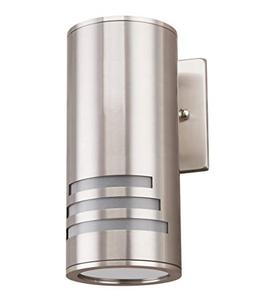 Cerdeco WS-8112 Modern Porch Light  Satin Nickel Finished Ou